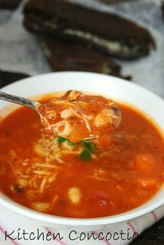 Kitchen Concoctions: Spicy Tomato and Turkey Soup #recipe #soup #dinner