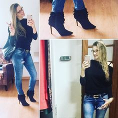 Sobre o look do dia!! Bom sábado pessoal !  #lookoftheday #lookdodia #ootd #jeans #cold #boots #saturday #instacool #instagood #instahome #instalook #instalove #instafriends