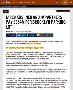 ORG gets 345 million for Bethelite parking lot Jw News, Real Estate News, Parking Lot, Offices, Rid, Space, Floor Space, Parking Space