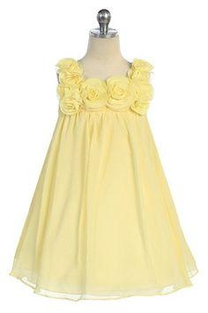 Yellow flower girl dress #timelesstreasure.theaspenshops.com