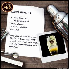 Jetzt abkühlen! Mit dem Likör 43 Rezept - Green Spring #licor43 #licoer43 #likör43 #ichliebefoodblogs #backen #kochen #grillen #cocktails #party Tonic Water, Gin And Tonic, Food Blogs, Mousse, Cocktails, Don Juan, Smoothies, Alcohol, Place Card Holders