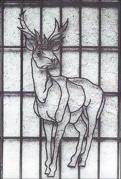 Demirden geyik figürü