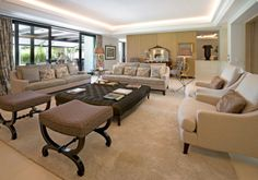 Impressive family home only 50 meters from the beach - #luxuryhome #MarbellaGoldenMile #chic #elegance #livingroom