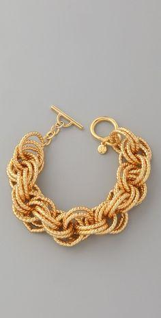 Gorgeous gold bracelet! @Lauren Zutt