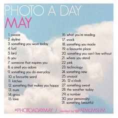 May Photo A Day Challenge