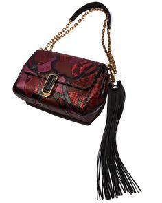 Marc Jacobs J Marc Snake Patchwork Shoulder Bag, Rubino Multi