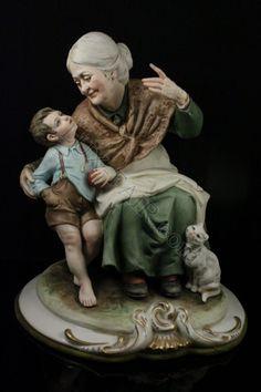 Capodimonte Bruno Merli figurine Story Telling