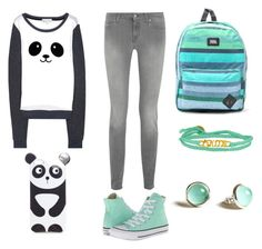 """""""*99"""" by marigonzalez1d ❤ liked on Polyvore featuring 7 For All Mankind, Converse, Vans and The Brave Collection"""