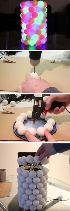 Illuminated Ping Pong Ball Lamp | DIY Christmas Decorations for Outside Ideas | Easy Outdoor Christmas Decor Ideas for Porch