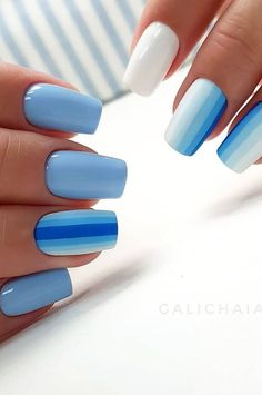 Nails Art Design- 43 Different Nail Design Models For Manicure Every Day New 2019 – Page 4 of 42 – eeasyknitting. com – nails. Manicure Colors, Nail Colors, Hair And Nails, My Nails, Casket Nails, Different Nail Designs, Different Colour Nails, Diy Nail Designs, Gel Manicure Designs