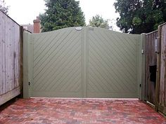 We have an extensive portfolio of Driveway Gate installations. Many of these Driveway Gates are electric and can be opened with remote control. Backyard Gates, Garden Gates And Fencing, Driveway Landscaping, Driveway Gate, Fence Gate, Fences, Wooden Electric Gates, Double Wooden Gates, Double Gate