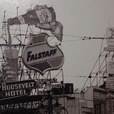 Remember the Iconic Falstaff Neon Beer Sign on Canal Street in Beer Pictures, Old Pictures, Beer Pics, Neon Beer Signs, Fun Signs, Beer History, Retail Signs, Louisiana History, Beer 101