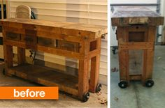 Before & After: Cleaning Up a Handmade WorkbenchCrafted Niche