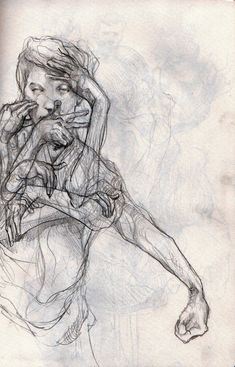 Philipp Banken Sketchbook; Study of gesture