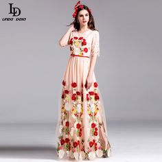 Elegant Women Maxi Dress Long Sleeve Printing Lace Patchwork Party Dresses Autumn  WOW http://www.skaclothes.com/product/ld-linda-della-2016-elegant-women-maxi-dress-long-sleeve-printing-lace-patchwork-party-dresses-autumn-new #shop #beauty #Woman's fashion #Products