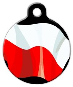 The flag of Poland! Show your Polish pride with this awesome pet id tag. Dog Id Tags, Pet Tags, Poland Flag, Tag Image, Personalized Tags, Cat Collars, Tag Art, Small Dogs, Pet Supplies