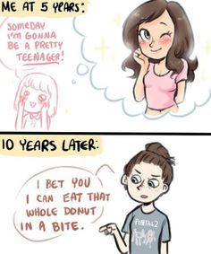 An additional 10 years later: I already ate the first donut in one bite, i bet I could go for two! At least.
