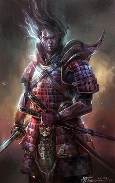 echo1331:  scifi-fantasy-horror: Samurai by mixppl
