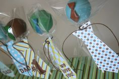 Father's Day - Tie Cupcake Toppers to Dress Up My Tie-Riffic Fathers Day Cake Pops
