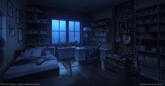 bedroom night deviantart bed novel visual anime backgrounds scenery aesthetic episode wallpapers interactive sky
