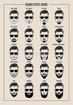 "beard style guide poster"" Poster by beakraus Redbubble f beard styles - Beard Beard And Mustache Styles, Beard Styles For Men, Beard No Mustache, Hair And Beard Styles, Goatee Styles, Facial Hair Styles, Short Beard Styles, Mens Hairstyles With Beard, Haircuts For Men"