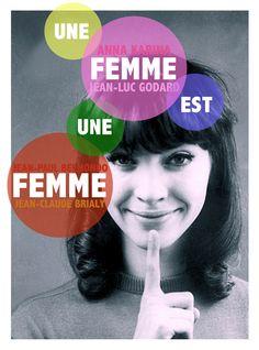 """""""Une femme est une femme"""" (1961). Country: France. Director: Jean-Luc Godard."""