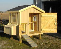 Gable Roof Model Chicken Coop
