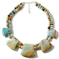 """Jay King 19"""" Multicolor Amazonite Necklace at HSN.com."""