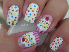 Nail Art - Cupcake Nails - Decoracion de Uñas - Pastelitos