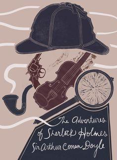 Hypothetical book cover of The Adventures of Sherlock Holmes by Sabina Lindemann Sherlock John, Sherlock Decor, Sherlock Books, Sherlock Holmes Quotes, Adventures Of Sherlock Holmes, Sherlock Holmes Tattoo, Sherlock Poster, Watson Sherlock, Jim Moriarty
