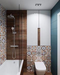 Bathroom Design Luxury, Bathroom Design Small, Bad Inspiration, Bathroom Inspiration, Bathroom Trends, Bathroom Renovations, Rustic Bathrooms, Modern Bathroom, Small Toilet Room