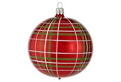 Scottish Plaid Ball Ornament on OneKingsLane.com