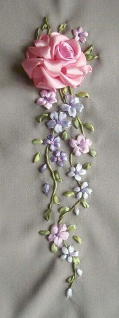 2396 Best Silk Ribbon Embroidery images in 2019 | Silk
