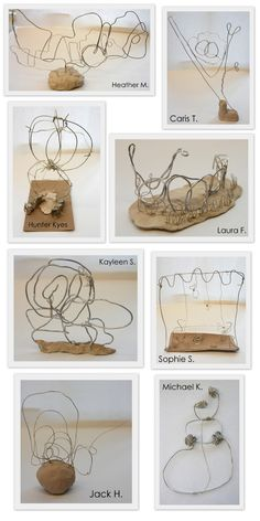 The New Hope Art Gallery: Middle School Art: Wire Drawings