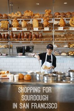 Shop for sourdough bread to bring home as a travel souvenir from one of San Francisco's oldest bakeries, Boudin, at Fisherman's Wharf.