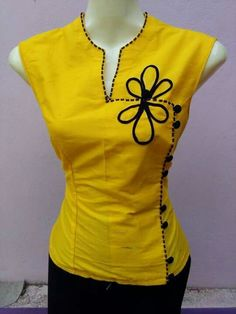 Amarelo African Fashion Dresses, African Dress, Fashion Outfits, Dress Neck Designs, Blouse Designs, Frock Patterns, Myanmar Traditional Dress, Kurta Designs Women, Unisex Fashion