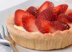 Try this delicious, quick and easy custard and strawberry tarts recipe for a tasty treat. Made with Jus-Rol pastry cases and ready in just 20 minutes.