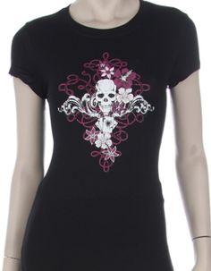 Pretty Skull T-Shirt: Fuck That Girly Shit just $12.99