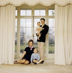 Princess Alexandra of Kent and her family