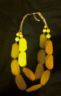 Yellow Neckless bought to you by francesca's collections