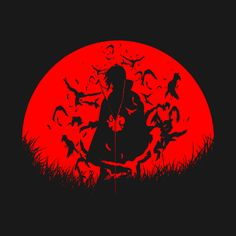 Itachi Uchiha Akatsuki Red Moon Sharinhan Tsukuyomi