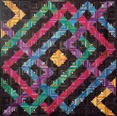 log cabin quilt patterns | Planet Maze Log Cabin