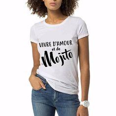 Vivre d amour et de Mojitos 3 T-SHIRT pour femme 82d908afe751