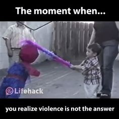Love is always more powerful than violence