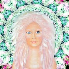 Life is beautiful by Lilaviolet. I merged an older painting with one of my digital mandalas.