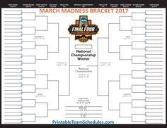 march madness brackets 2018