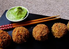 Mummy, I can cook!: Salmon Korokke (Croquette) Balls with Wasabi Avocado-naise