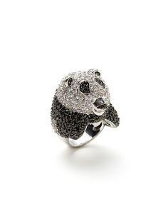 CZ Panda Ring by Noir Jewelry on Gilt.com