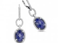 Colore Sterling Silver Lapis Fusion Earrings - Colore Sterling Silver Lapis Fusion Earrings  http://www.swedesjewelers.com/
