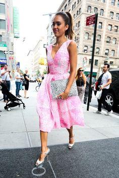 Jessica Alba is seen Soho on August 12, 2014 in New York City.